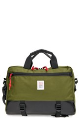 Topo Designs 'Commuter' Briefcase Olive Black Leather