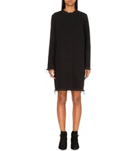 Aries Frayed Edge Denim Dress Black