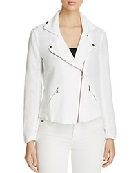 Nic Zoe And Linen Moto Jacket Paper White