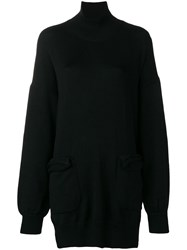 Y's Loose Sweater With Pockets Black