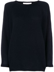 Lamberto Losani Crew Neck Sweater Blue