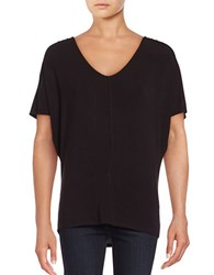 Lord And Taylor Plus Cold Shoulder Top Black
