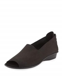 Sesto Meucci Eulah Perforated Zip Sandal Black