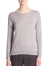 Peserico Two Tone Knit Sweater Grey