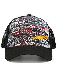 Dsquared2 Graffiti Tags Trucker Cap Black