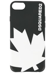 Dsquared2 Maple Leaf Iphone 8 Case Black