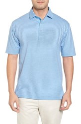 Bobby Jones 'S Crest Stripe Polo Sky Blue