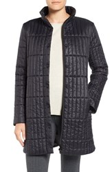 Eileen Fisher Women's Recycled Nylon Blend Quilted Jacket Black