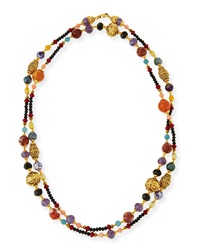Gold Plated Ornate Beaded Necklace Jose And Maria Barrera