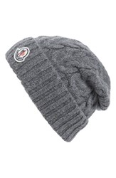 Moncler Men's Berretto Cable Knit Wool Beanie