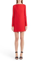 Valentino Women's Back Bow And Cowl Crepe Couture Dress