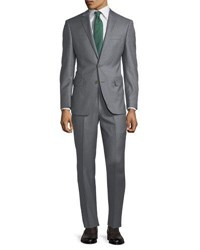 Dkny Slim Fit Solid Wool Two Piece Suit Gray