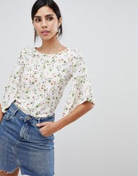 Oh My Love Printed Tie Back Frill Crop Top Pink