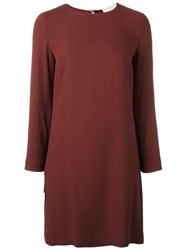 Erika Cavallini Boat Neck Shift Dress Red