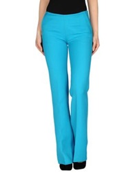Courreges Casual Pants Turquoise