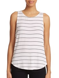 Red Haute Striped Racerback Tank Top White Black