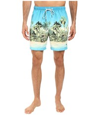 Tommy Bahama Naples Cubano Cape Swim Trunks Pool Blue Men's Swimwear