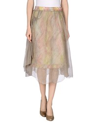 Manila Grace Skirts 3 4 Length Skirts Women Khaki