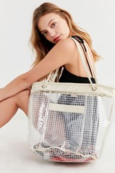 Urban Outfitters Grid Plastic Bucket Tote Bag Clear