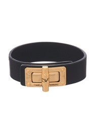 Diane Von Furstenberg Latch Leather Bracelet