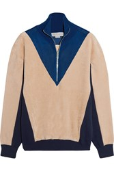 Stella Mccartney Color Block Fleece Ivory Blue