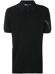 Y 3 Classic Polo Shirt Men Cotton L Black