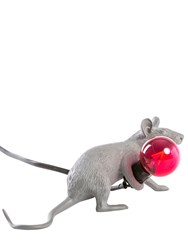 Seletti Lop Mouse Lamp Grey Red