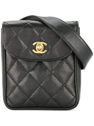 Chanel Vintage Quilted Waist Bum Bag Black