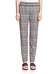 3.1 Phillip Lim Smocked Patterned Pants Black White