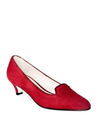 Patricia Green Alexa Slip On Suede Pumps Red