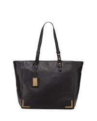 Badgley Mischka Linda Framed Leather Tote Bag Black