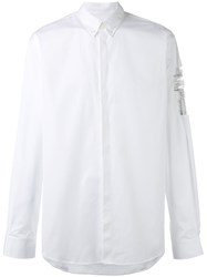 Dsquared2 Cross Embellished Shirt Men Cotton 52 White