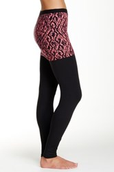 Magid Printed Skirt Overlay Legging Black