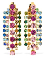 Ca And Lou Teodora Multicolor Crystal Earrings
