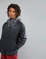 O'neill Activewear Kinetic Insulated Windbreaker Jacket In Black Blackout