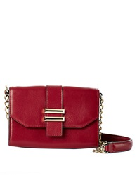 Dolce Vita Juliet Leather Phone Crossbody Bag Cranberry