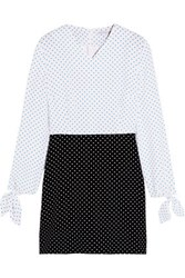 J.W.Anderson Two Tone Polka Dot Crepe Mini Dress White