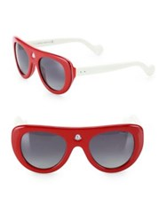 Moncler 51Mm Polarized Shield Sunglasses Red