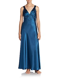 Jonquil Long Satin Gown Blue