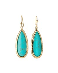 Jules Smith Designs Jules Smith Simulated Turquoise Teardrop Earrings Women's