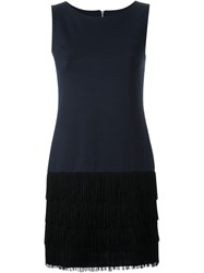 Guild Prime Sleeveless Fringed Dress Blue
