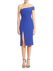 Nicholas Tech Bonded One Shoulder Dress Lapis