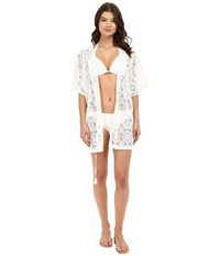 Michael Michael Kors La Vie Boheme Crochet Tunic Cover Up White Women's Swimwear