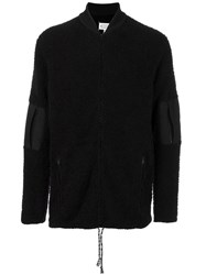 Maison Martin Margiela Textured Zip Up Cardigan Black
