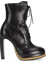 Vic Matie High Heel Lace Up Boots Black