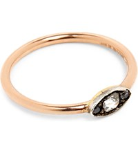Annina Vogel 9Ct Silver Set Rose Gold And Old Cut Diamond Evil Eye Ring