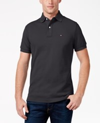 Tommy Hilfiger Men's Custom Fit Ivy Polo Charcoal Heather