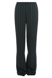 Theory Pijama Stripe Silk Trousers