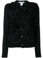 Comme Des Garcons Embroidered Cardigan Women Cotton Polyester Wool M Black
