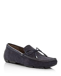 Ugg Bel Air Nubuck Leather Moc Toe Loafers Navy